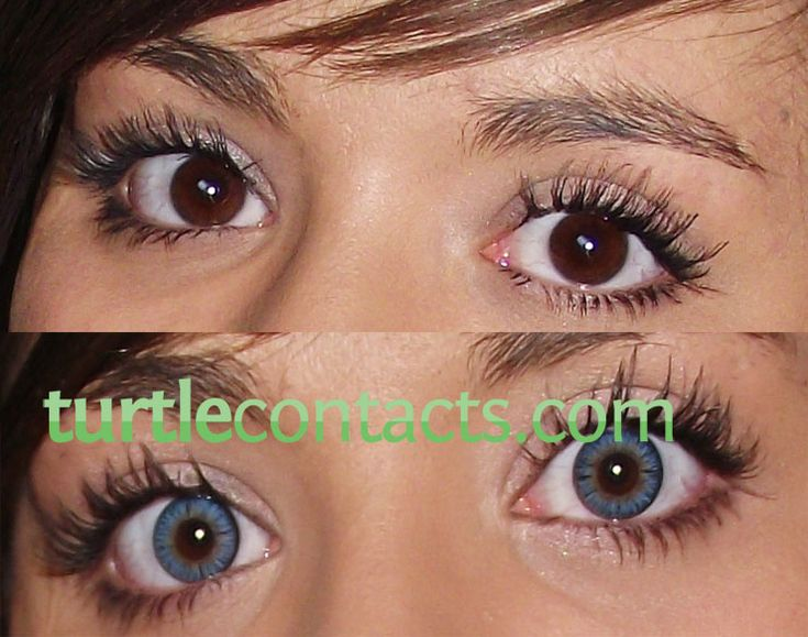 Blue Contacts Brown Eyes