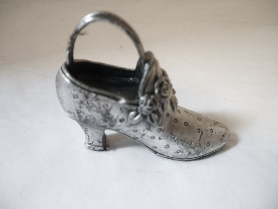 Collectible Pewter Shoe ...Victorian
