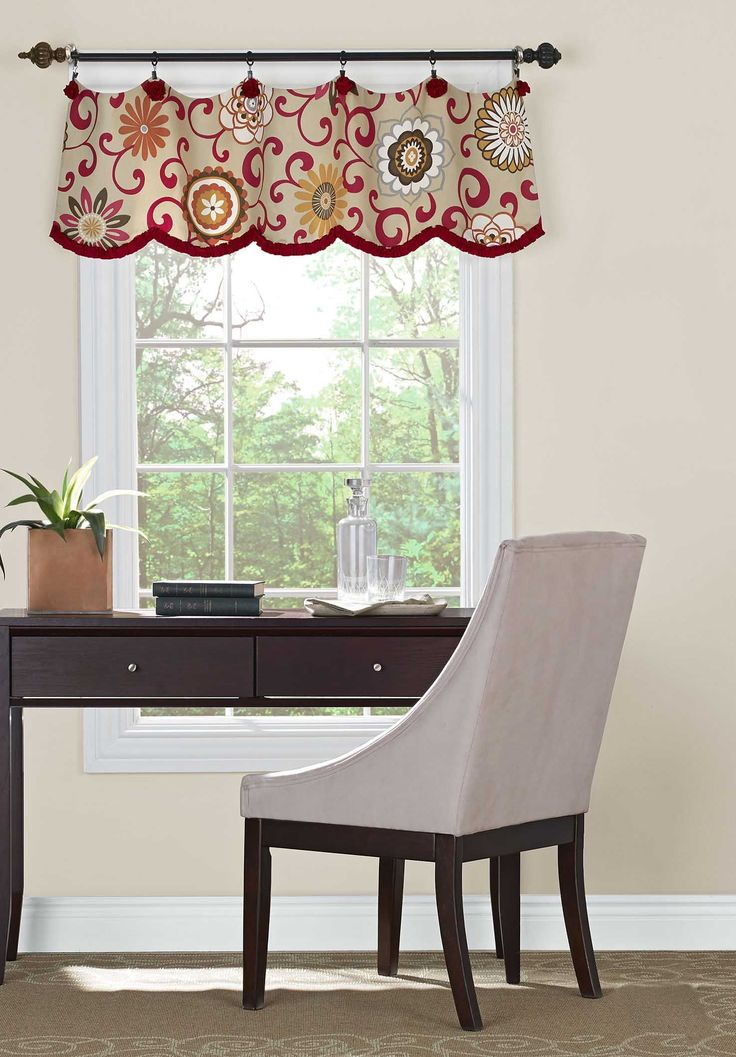 A valance doesn't have to be fixed on a board. Love the fabric, the contrast trim and the shape this valance adds to the window. Great where no curtains or blind is required. I would have positioned it higher to cover the top of the window architrave.