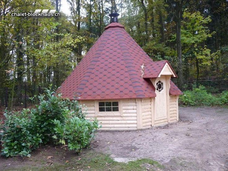 Grillkota Grillhütte 25 qm, inkl. Grillanlage  vom Steinfigur und Gartenhaus - Shop