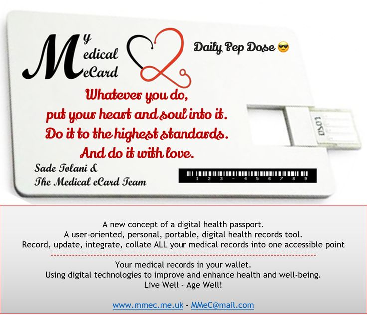 Daily Pep Doses from My Medical eCard.   Follow us & share our Pep Doses.   www.mmec.me.uk    Sadé Tolani