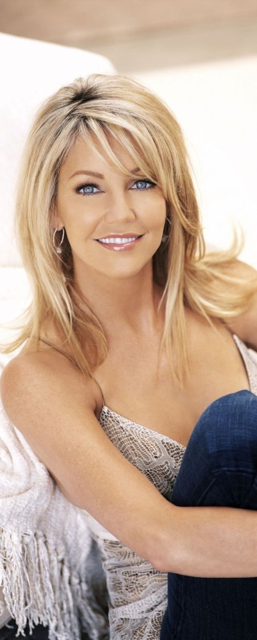 Love the layers around her face but I want to keep more of my length Heather Locklear~