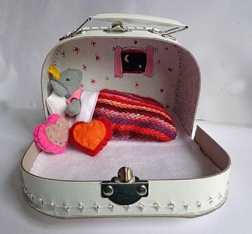 Mini koffertje met prinsessenmuis