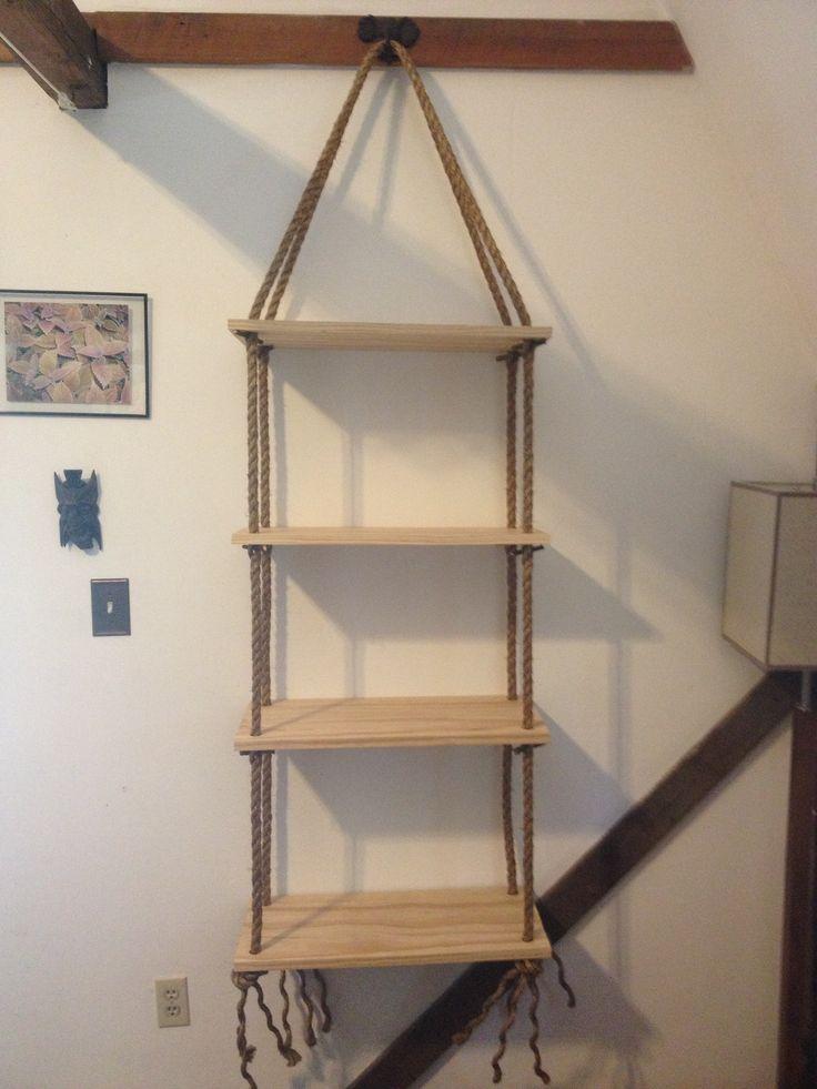 Hanging shelf diy crafts pinterest for Diy shelves pinterest