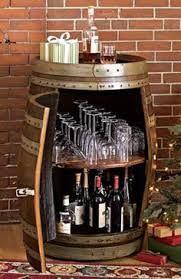 Image result for wine barrel bar leaner