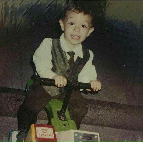Cornelio Vega Jr.. cuando era un bebé