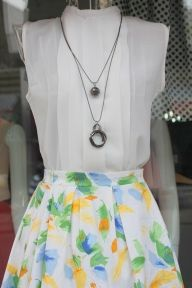 Chân váy hoa cao cấp