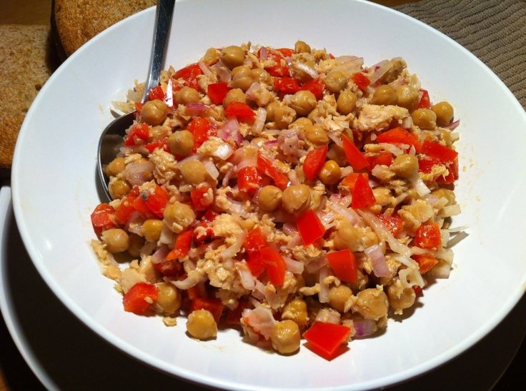 Wild Salmon and Chickpea Salad: This easy and nutritious go-to lunch can be whipped up in 10 minutes flat! Canned wild salmon is a cost-effective way to get a super dose of heart-healthy omega-3s and bone-strengthening Vitamin D. Plus, the fiber-rich garbanzo beans are just as easy to toss in. Serve with a few whole-grain crackers, roll in a tortilla, or top on a bed of leafy greens and dig in!