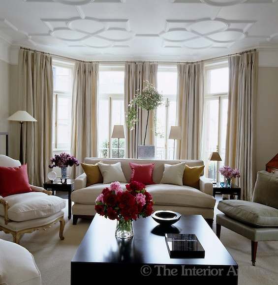 17 best ideas about window drapes on pinterest living for Floor to ceiling bay window