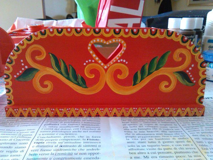 Porta tovaglioli decorato in stile siciliano