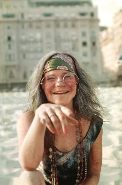 Janis Joplin in Copacabana, 1960. They say she came here to get better from her drug addiction, but she drank a lot of caipirinhas, sang in a brothel, was expelled from Copacabana Palace for swimming naked at the pool and almost arrested. Rio de Janeiro, Brazil.