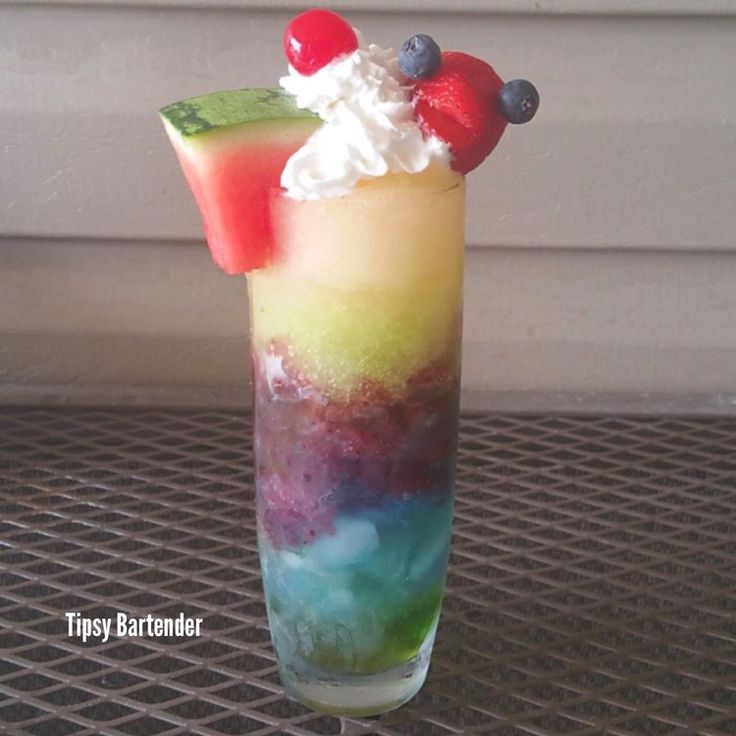Check out this slushy drink from the Tipsy Bartender