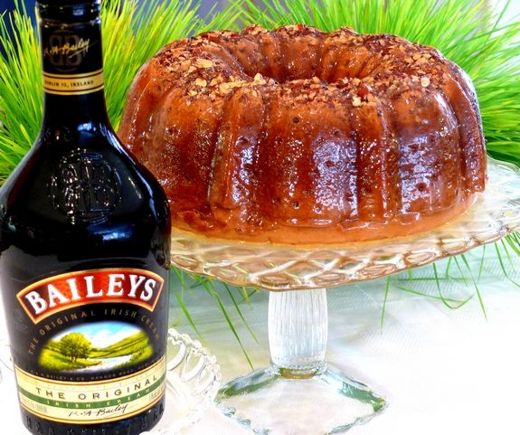 Bailey's Irish Cream Cake for St. Patrick's.. this is one of the best cakes I've ever made!!
