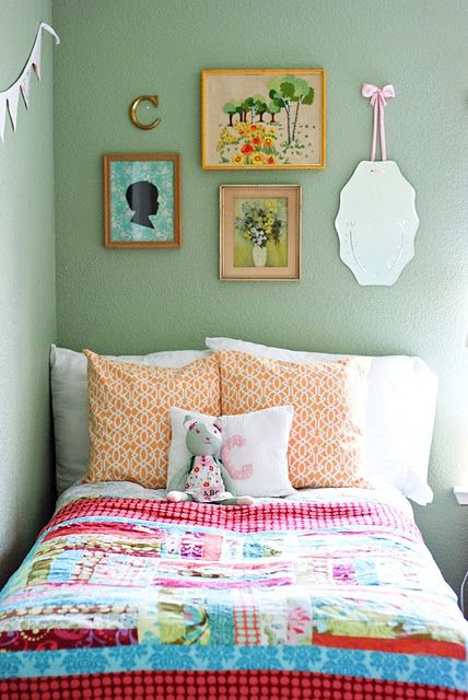 colorful cottage bedroom
