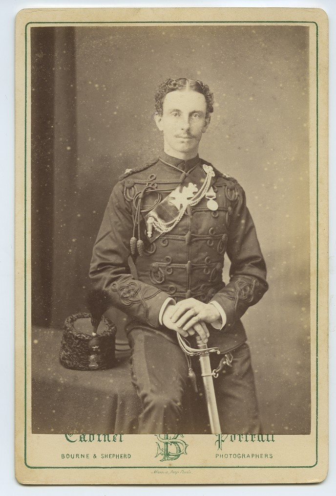 CAB Photo Of British Soldier With Sword c1870s India - Bourne & Shepherd