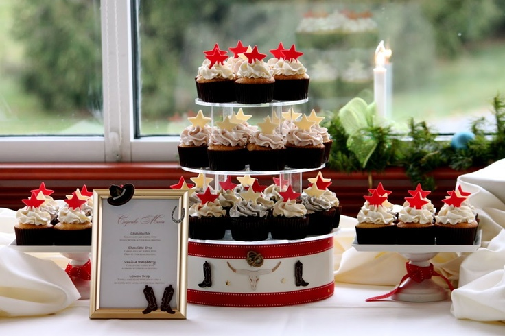 Texas Style Holiday Cupcake Display - Dreamers Into Doers -- marthastewart.com