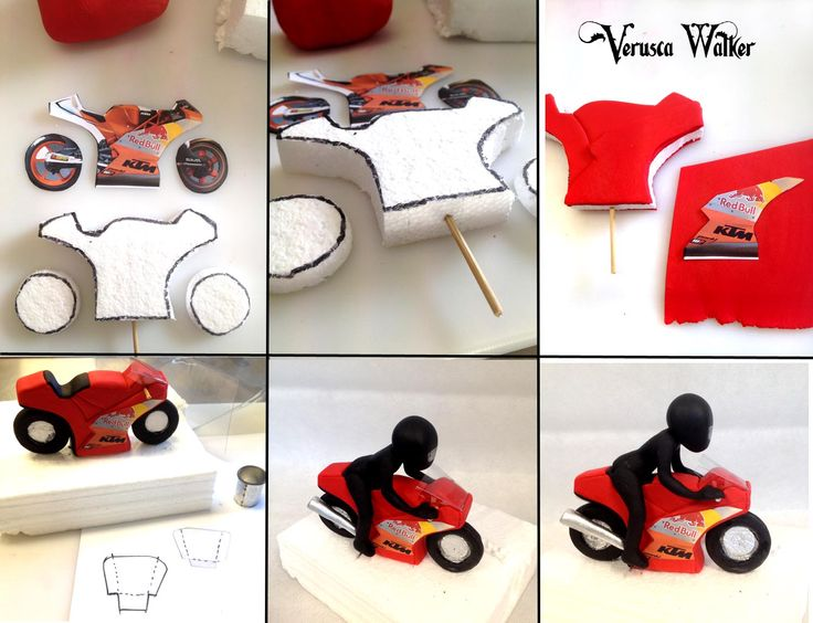 Mini motorbike topper by Verusca Walker