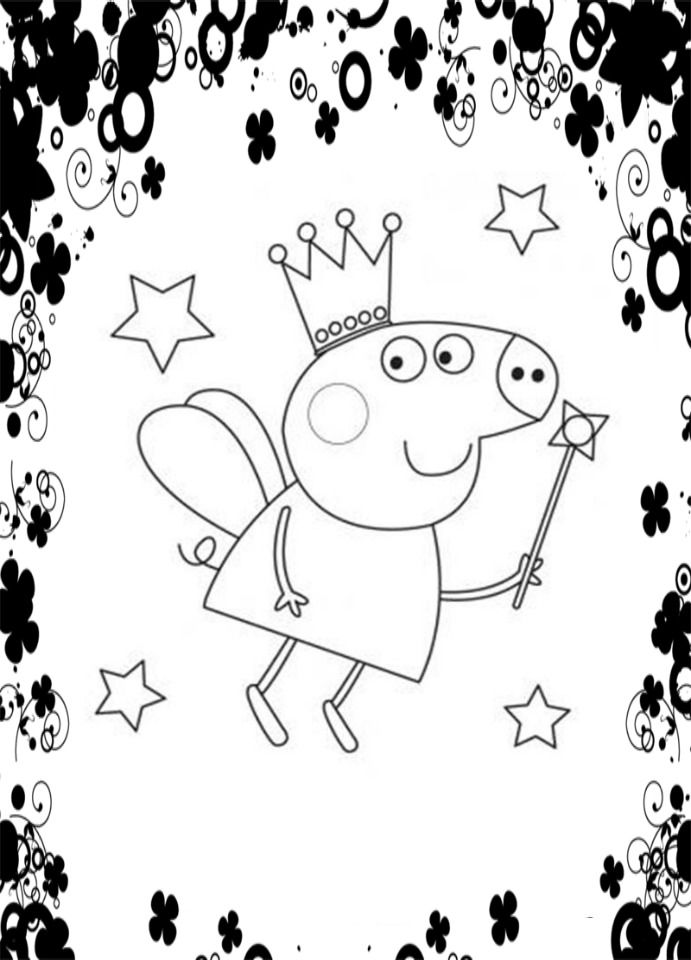 61 best coloriages p ppa pig images on pinterest - Coloriage peppa pig ...