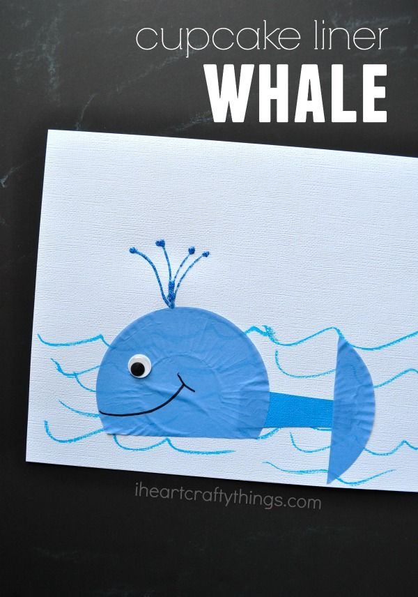 Use Cupcake Liners to make this cute Whale Craft for Kids. A great summer kids craft or for learning about the ocean.