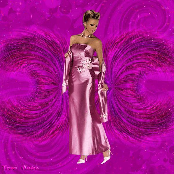 Картинка gif Девушки Фиолетовые шары