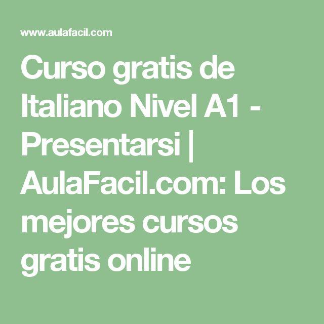 Curso gratis de Italiano Nivel A1 - Presentarsi | AulaFacil.com: Los mejores cursos gratis online