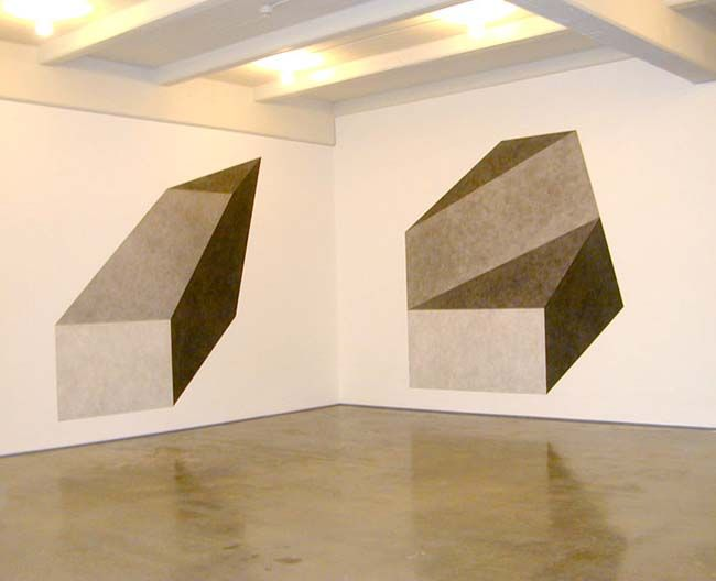 Sol LeWitt, Wall Drawing #411D, 1984, and Wall Drawing #411E, 2003