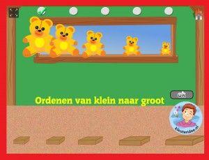 Ordenen met kleuters op digibord of computer, kleuteridee, Kindergarten educative game for IBW or computer