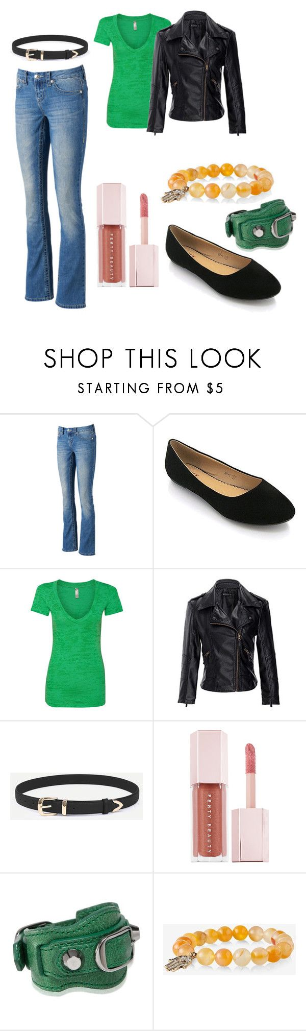 """""""Diamond Lil - Nolan"""" by dawn-currie-adams on Polyvore featuring Seven7 Jeans, Puma, Balenciaga and Express"""