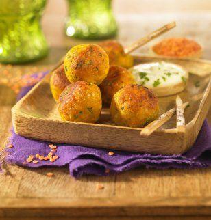 Recette de boulettes de lentilles corail à l'indienne idéales pour l'apéritif