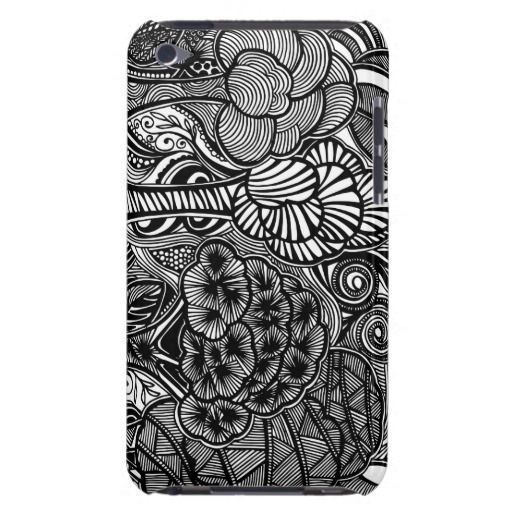 A unique Gardens #4 hand drawn art iPod case iPod Touch Covers