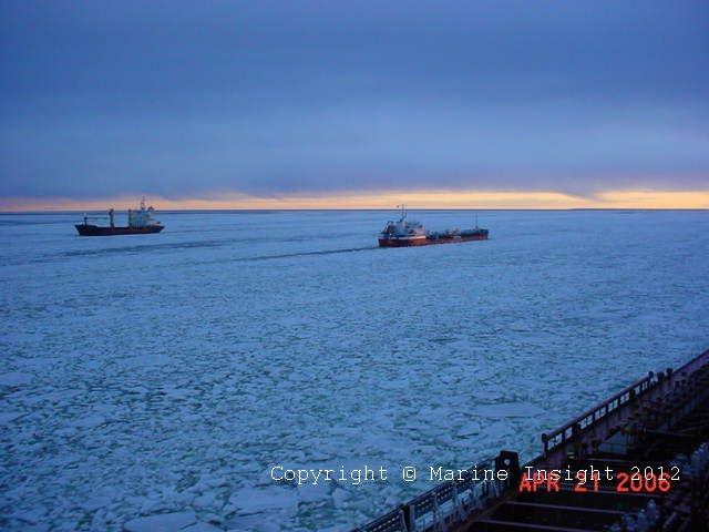 Ships over frozen sea!