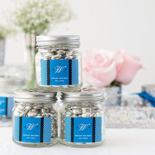 Personalized Mason Jars with Flower Lids and Straws by Beau-coup