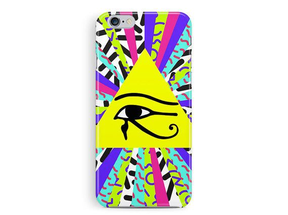 EGYPTIAN iphone 4 case, iphone 5s case, eye of horus jewellery, colourful iphone 5s case, egyptian iphone 5s case, 90s pattern iphone case