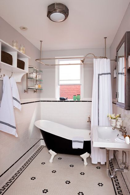 Eclectic Bathroom by BGDB Interior Design. This is an old Victorian Bathroom in an urban living area.It has been refurbished while being true to it's original style.