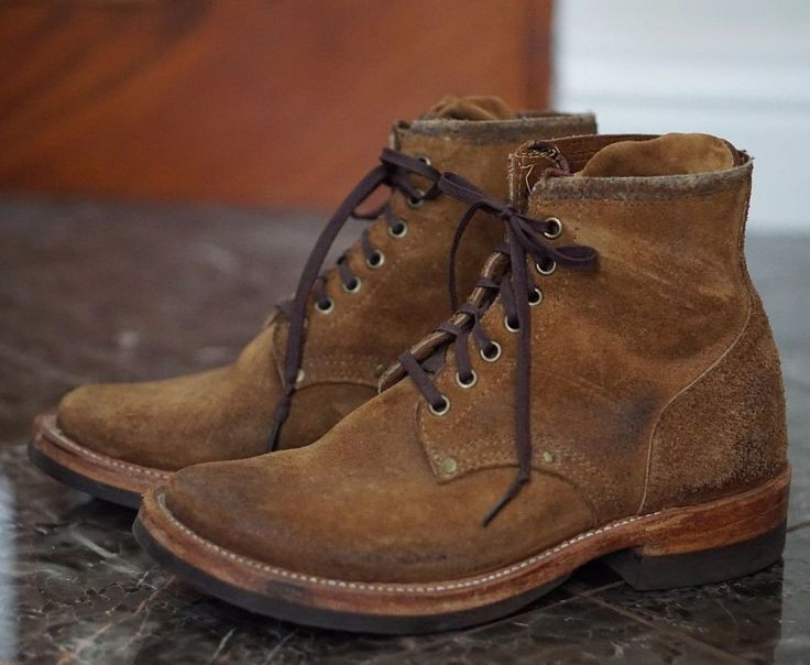 Rrl X Julian Boots 7 8 Boondocker Suede Roughout Made In