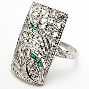 I love art deco jewelry.