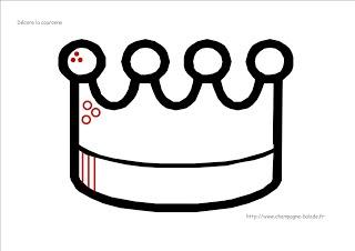 Le coin des petits [Balade en Champagne]: Graphisme Maternelle préscolaire Petite section: la galette des rois (2)