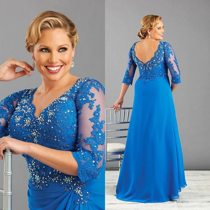 This blue plus size evening gown could be worn by the mothers of the wedding. We are dressmakers who can take a dress like this and make design changes to it for you however you like - in any size or color. In addition to custom plus size evening dresses we can also produce #replicadresses for you. Recreations of a discontinued gown is also possible.  get info on custom plus size mother of the bride dresses when you visit our site at www.dariuscordell.com/