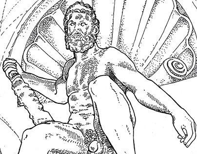 CARTOLINA D'ERCOLE Ercole e l'idra, 1519, di Alfonso Lombardi. Palazzo d'Accursio, Bologna. Statua in terracotta, patinata a sembrare bronzo.  Ercole non rappresentava solo la forza, ma anche la lotta e la vittoria contro i tiranni. Papa Leone X aveva scelto l'eroe greco come emblema della propria forza e potenza. Bologna fu conquistata nel 1512 dal Vaticano cacciando i Bentivoglio e ora, come Ercole, poteva riposare.