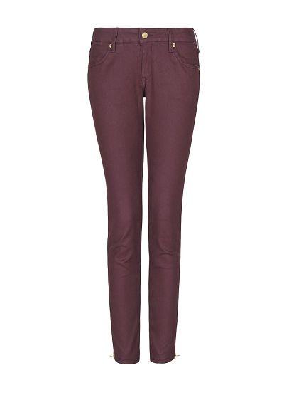 MANGO - Coated cropped jeans