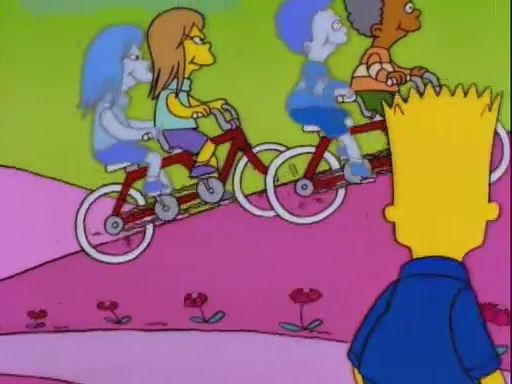 Envy: Moe envies the profits of family restaurants. Lisa wants five dollars after Bart tells her he had five dollars. Bart envies the kids in his dream for their souls.