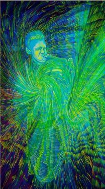 "Saatchi Art Artist Lola Lonli; Painting, ""Gerry Mulligan is growing his own world"" #art"