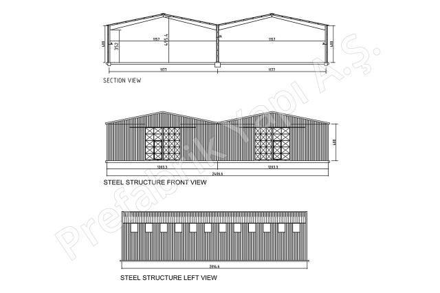Çelik Yapı 500 m2