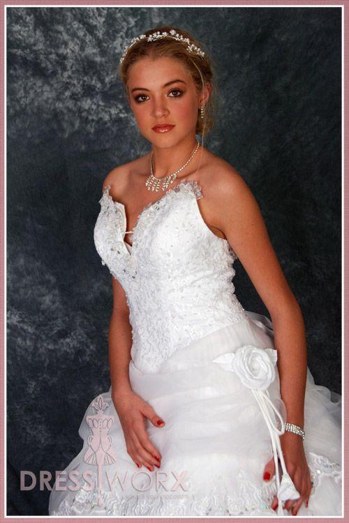 Pearl White Wedding Dress - Modeled by Mari Lu