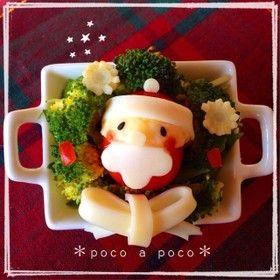 クリスマス☆ミニトマトのサンタさん♪