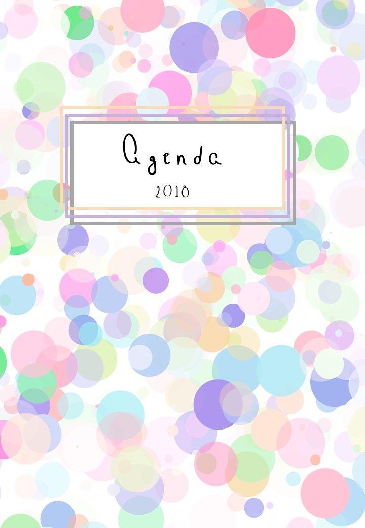 Agenda anual para el año 2018 disponible en 5 colores más. #agenda #planner #printable #planner2018 #agenda 2018 #descargar #free #blog