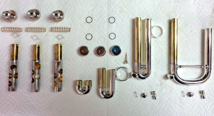 Stomvi Trumpet Parts being cleaned http://stomvi-usa.com/