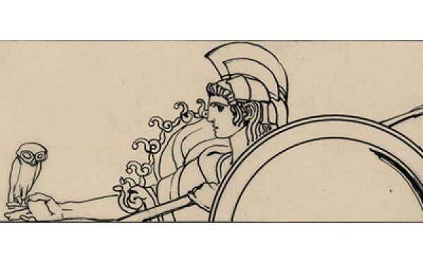 Duilio Cambellotti, Odissea, 1911, china a penna su carta lucida, cm 75x21