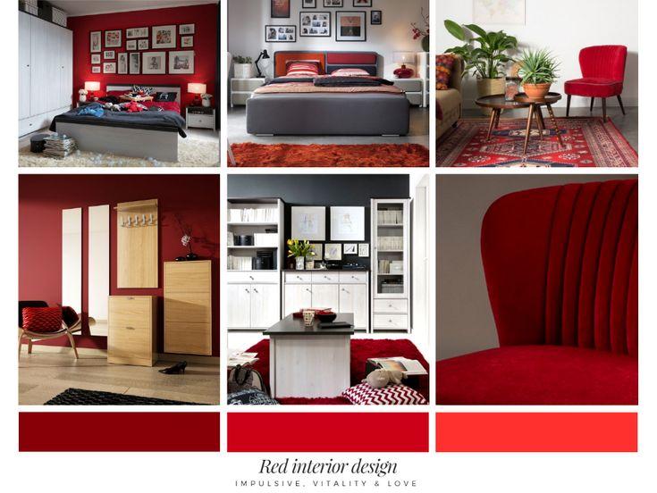 Czerwona inspiracja aranżacyjna #czerwonemeble #twojemeble  #czerwonearanżacje #czerwonedodatki #dodatki #meble #redhome #redcolor #colorathome #odważnearanzacje