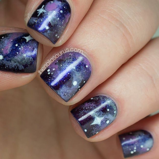 No7 Galaxy with Galaxy Nail Art